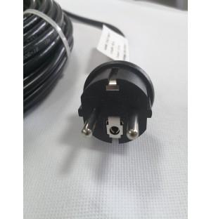 Vykurovací kábel na ochranu proti mrazom EXTRA PEVNÝ s TERMOSTATOM IP68 17W/m - 2 m
