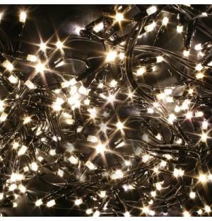 LED Vianočná svetelná reťaz FLASH, 100xLED, teplá biela + studená biela, 8m, 230V, IP44 exteriér