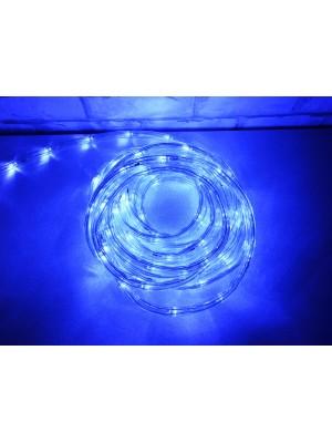 LED svetelný had, 8m, IP44, modrá, exteriér