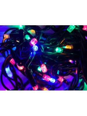Extra hrubá  PROFI vianočná reťaz 6m, 60 led - RGB - viacfarebná, exteriér IP44