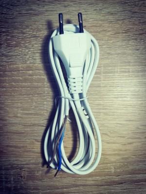 Flexo šnúra PVC 2x0,75mm 2m biela