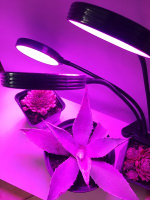 PROFI LED GROW trojramenná lampa na všetky rastliny so zabudovaným časovačom a stmievačom, HB-GT05, 45W - plné spektrum