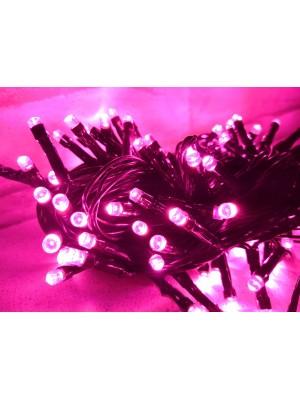 PROFI vianočná LED reťaz, 10 m, 100xLED, IP44, ružová