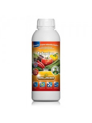 Zelenina - kvapalné organominerálne hnojivo s aminokyselinami a humínovými kyselinami, 1L